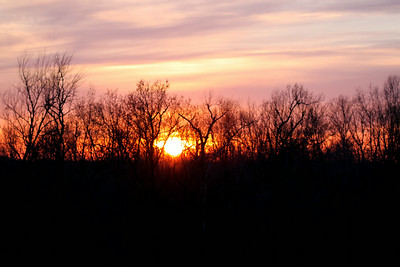 Sunset, Breckinridge County, Kentucky Early Spring 2014